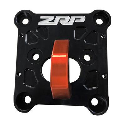 ZRP RZR Radius Rod Plate, Billet Heavy Duty Black w/ Red D-Ring 10mm 400017-R