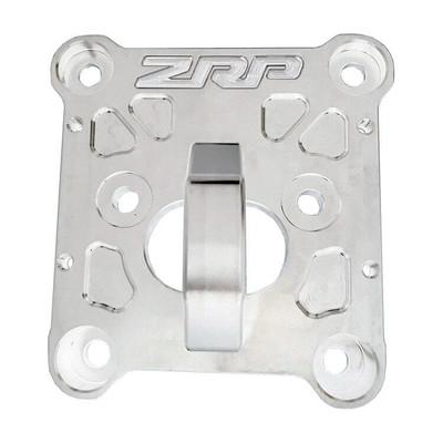 ZRP RZR Radius Rod Plate, Billet Heavy Duty Aluminum w/ D-Ring 10mm 400017-A