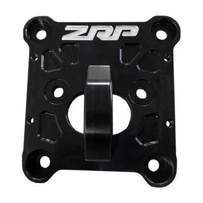 ZRP RZR Radius Rod Plate, Billet Heavy Duty Black w/ D-Ring 12mm 400040
