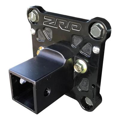ZRP RZR Radius Rod Plate, Billet Heavy Duty Black w/ Hitch 12mm 400041