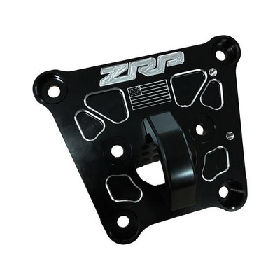 ZRP RZR Turbo S Radius Rod Plate, Billet Black w/ D-Ring 400067