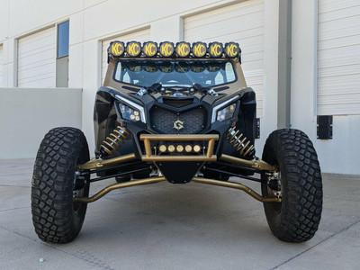 Geiser Performance Can-Am X3 Double Row Bumper Bulkhead Black CAX3-DRBB-BLK
