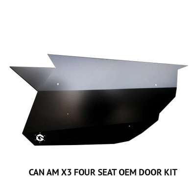 Geiser Performance Can-Am X3 OEM Door Kit 4-Seat Raw CAX3-4SOEMDK-RAW