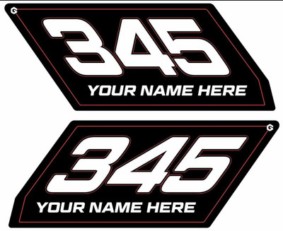 Geiser Performance Can-Am X3 Number Plates Black CAX3-NUMBER PLATE KIT-BLK