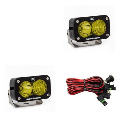 Baja Designs S2 Pro LED Light Pods Pair Wide Cornering Amber 487815