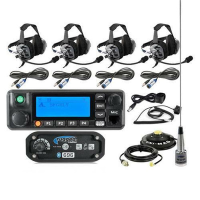 Rugged Radios RRP696 4-Place Intercom with Digital Mobile Radio and BTU Headsets 696-4P-BTU-RDM