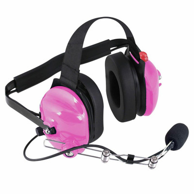 Rugged Radios H42 2-Way Radio Headset w/ PTT Pink H42-PINK