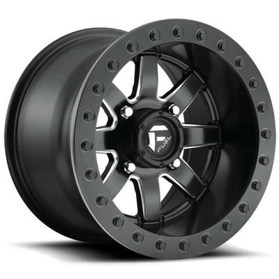 Fuel Offroad D928 Maverick Beadlock UTV Wheel 15X8 4X137 Black and Milled D9281580A645