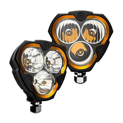 KC HiLiTES FLEX ERA 3 LED Light Pair Pack Combo 283