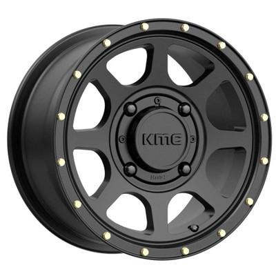 KMC Wheels KS134 Addict 2 UTV Wheel 14X7 4X137 38 Satin Black KS13447048738