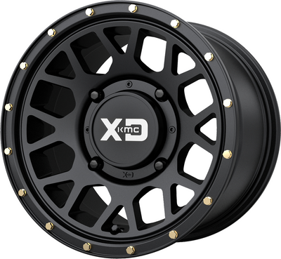 KMC Wheels KS135 Grenade UTV Wheel 14X7 4X137 10 Satin Black KS13547048710