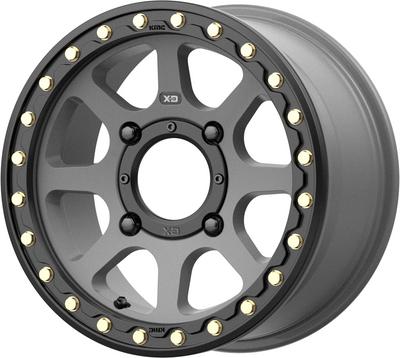 KMC Wheels KS234 Addict 2 Beadlock UTV Wheel 14X7 4X137 38 Satin Gray KS23447048438