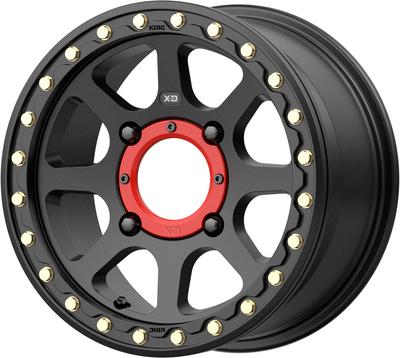 KMC Wheels KS234 Addict 2 Beadlock UTV Wheel 15X6 4X156 38 Satin Black KS23456044738