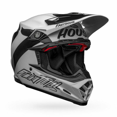 Bell Helmets Moto-9 Flex Medium Fasthouse Newhall Gloss White/Black BL-7122671