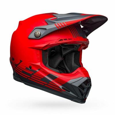 Bell Helmets Moto-9 Flex Small Louver Matte Gray/Red BL-7122610