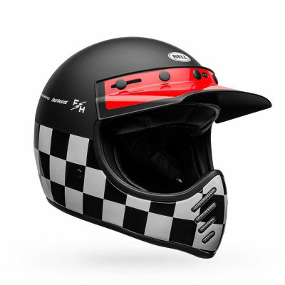Bell Helmets Moto-3 Large Fasthouse Checkers Matte/Gloss Black/White/Red BL-7109942