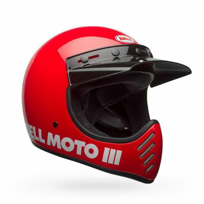 Bell Helmets Moto-3 Large Gloss Red Classic BL-7080620