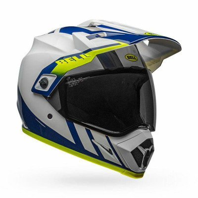 Bell Helmets MX-9 Adventure MIPS Large Dash Gloss White/Blue/Hi-Viz BL-7110320