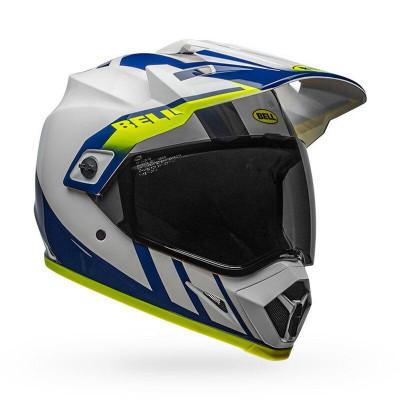 Bell Helmets MX-9 Adventure MIPS XL Dash Gloss White/Blue/Hi-Viz BL-7110321