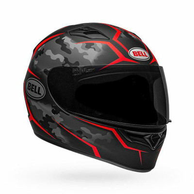 Bell Helmets Qualifier Stealth Camo Medium Black/Red BL-7107909