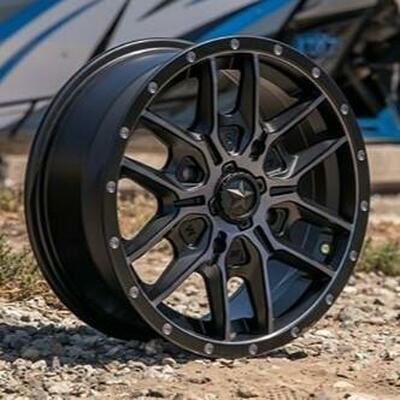 MSA M43 Fang UTV Wheel 14x7 4x137 Satin Black/Titanium Tint M43-04737