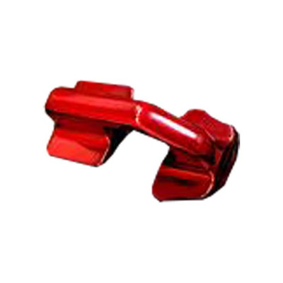 LM UTV Can-Am X3 Radius Rod Plate Tow Hook Candy Red LMU-RRP-02-02-CR