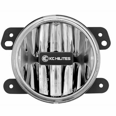 KC HiLiTES 4 Gravity LED G4 - Single Light - SAE/ECE - 10W Fog Beam - 07-09 Jeep JK 1494