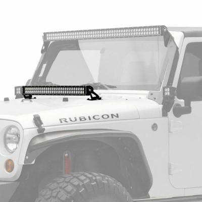 KC HiLiTES 50 C-Series C50 LED - Light Bar System - 300W Combo Spot / Spread Beam - 07-18 Jeep JK 366