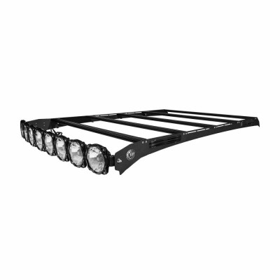 KC HiLiTES M-RACK KIT - 50 Pro6 Light Bar Roof Rack - Side Blackout Plates - 09-18 Dodge RAM1500 / 2500 / 3500 Crew Cab 92124