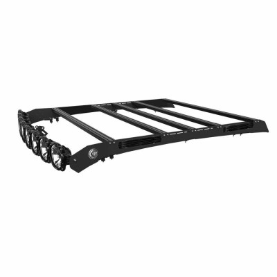 KC HiLiTES M-RACK KIT - 50 Pro6 Light Bar Roof Rack - Side Blackout Plates - 05-19 Toyota Tacoma Double Cab 92234