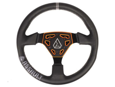 Assault Industries Navigator Leather Steering Wheel Orange 100005SW0907