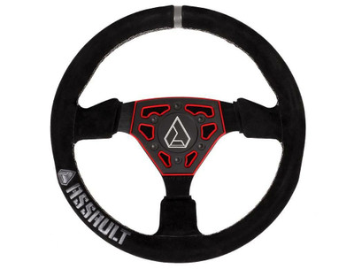 Assault Industries Navigator Suede Steering Wheel Red 100005SW0703