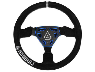 Assault Industries Navigator Suede Steering Wheel Blue 100005SW0702