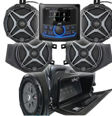 SSV Works 2019 Polaris RZR XP1000 Complete Audio Kit with JVC 5-Speaker RZ4-5A1