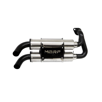 MBRP Powersports Polaris RZR / General Slip-on Dual Stack Performance Exhaust 2016 AT-9519PT