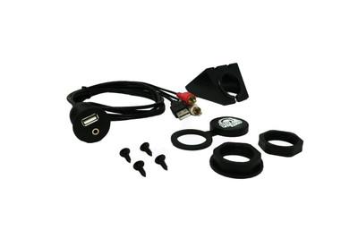 UTV Stereo USB Auxiliary Flush Mount Adapter for Source Units UTVSTO-UNV-UFM