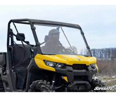 SuperATV Can-am Defender Scratch Resistant Full Windshield (Clear) (WS-CA-DEF-70)