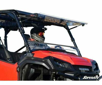SuperATV Honda Pioneer 1000 Windshield Flip Scratch-Resistant FWS03-001-70