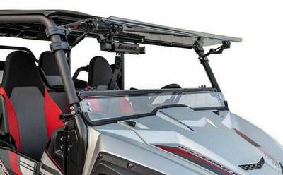 SuperATV Yamaha Wolverine X2 Windshield Flip Scratch Resistant FWS-Y-WV-X4-70#WV