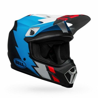 Bell Helmets MX-9 MIPS Large Strike Matte Black/Blue/White BL-7122504