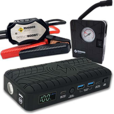 Rugged Geek RG1200 Safety PLUS Jump Starter and Power Supply RG1200-PLUS