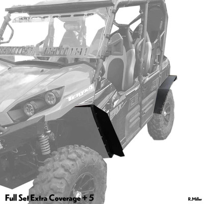 MudBusters 2012-20 Kawasaki Teryx 4 Fender Flares Front and Rear Extra Coverage 5 MB-KT4-FR5