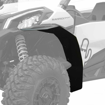 MudBusters 2019-21 Can-Am Maverick Sport Max Coverage Fender Flares Front Only MB-CAS-FO