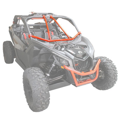 Factory UTV 2017-20 Can-Am Maverick X3 Front Intrusion Bar Black MX3FTINTRBR-TXTBLK
