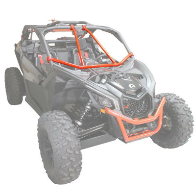 Factory UTV 2017-20 Can-Am Maverick X3 Front Intrusion Bar Red MX3FTINTRBR-RED