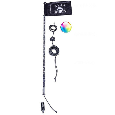 5150 Whips 187 3ft Bluetooth LED Whips Single 5150-LW3FTS