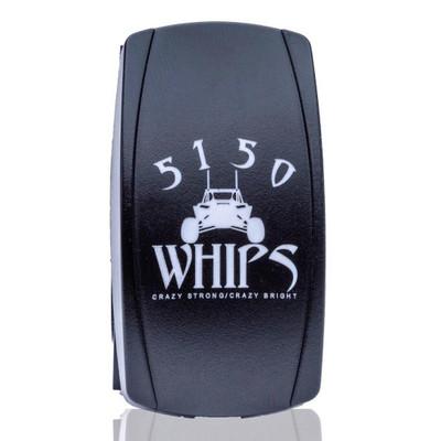 5150 Whips Rocker Switch White 5150-RSW
