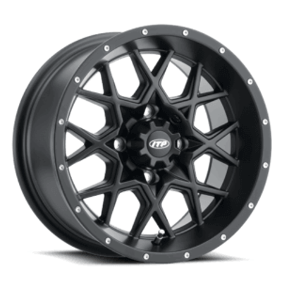 ITP Tires Hurricane UTV Wheel 16x7 4x110 Matte Black 1621964017B