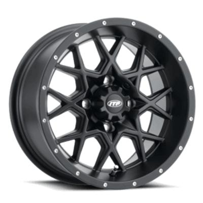 ITP Tires Hurricane UTV Wheel 16x7 4x136 Matte Black 1621965017B