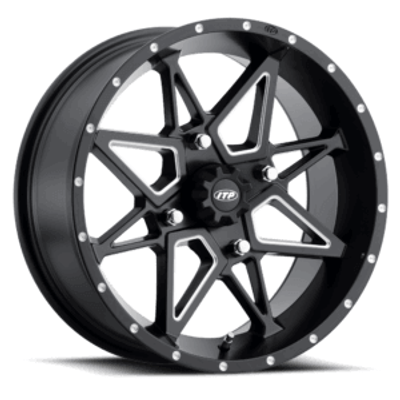 ITP Tires Tornado UTV Wheel 15x7 4x136 Matte Black 1521957727B